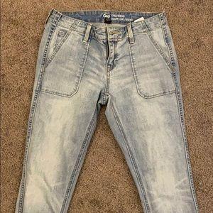 Light wash Girlfriend jeans